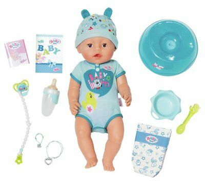 Baby Born Soft Touch Boy Doll Press Tummy Button Makes Going To The Potty Much