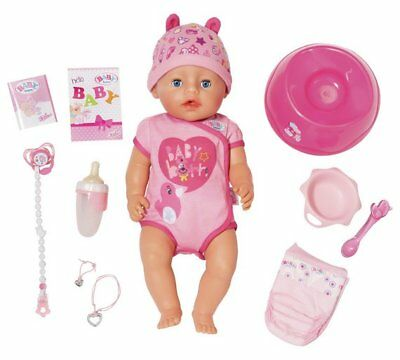 Baby Born Soft Touch Girl Doll Cry Real Tears, Drink Water And Eat The Food NEW