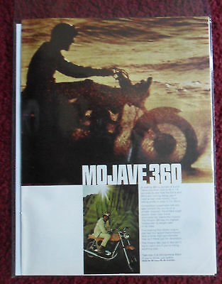 1968 Print Ad MOJAVE 360 Motorcycle ~ A Roaring Bundle of QUICK