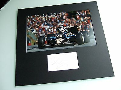 Nigel Mansell Genuine Hand Signed Autograph 1983 Lotus 94T F1 Photo Mounted Coa