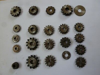 Clock Wheel and pinion cutters. assorted