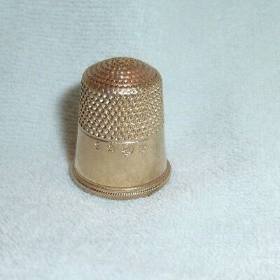 Antique 14k Gold Overlay Thimble by H. Muhr's Sons of Philadelphia Circa 1880s
