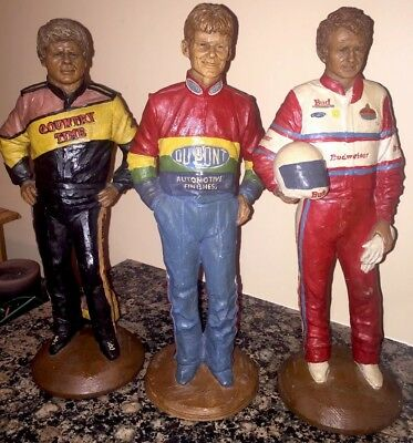 Lot Limited Edition Autographed Nascar Statues By Tom Clark