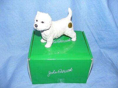 John Beswick Dog West Highland Terrier Westie JBD84 Boxed Figurine Present Gift