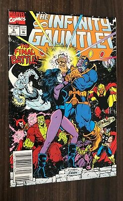 INFINITY GAUNTLET #6 -- Newsstand Variant -- Thanos -- VF/NM Or Better