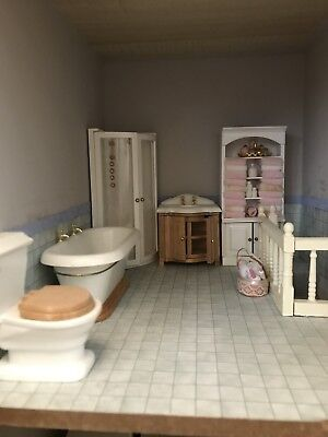 1/12 scale dolls house furniture - Bathroom set