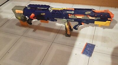 NERF N STRIKE ELITE LONGSHOT CS-6 2In 1 Blaster Blue/Yellow 2006