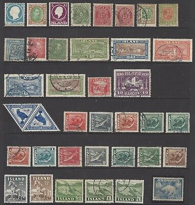 ICELAND collection early-mid stamps w/better inc mint triangle pair/1st issues