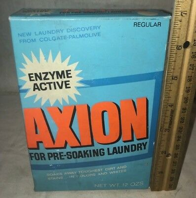 Antique Unopened Axion Laundry Soap Pre Soak Box Vintage Cleaner Grocery Store