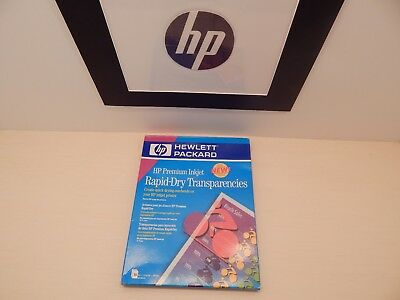HP Premium Inkjet Rapid - Dry Transparencies  Film 50 Sheets   New in Box EC