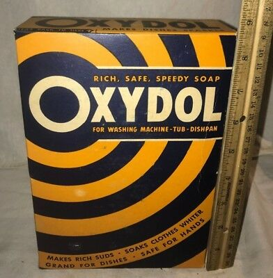 Antique Unopened Oxydol Laundry Soap Detergent Box Vintage Washing Cleaner Old