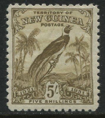New Guinea 1931 5/ olive brown mint o.g.