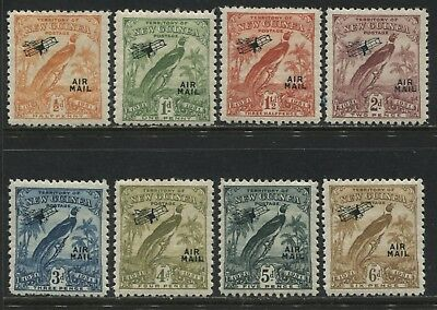 New Guinea 1931 overprinted Airmails 1/2d to 6d mint o.g.