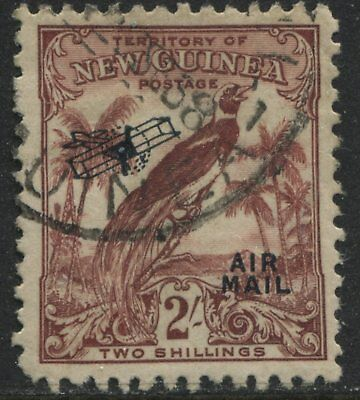 New Guinea 1932 overprinted Airmail 2/ red brown used