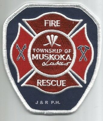 """Township of Muskoka Lakes  Fire Dept., Canada  (3.75"""" x 4.25"""" size)  fire patch"""