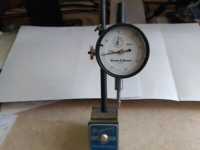 DIAL INDICATOR with MAGNETIC BASE, BROWN&SHARPE