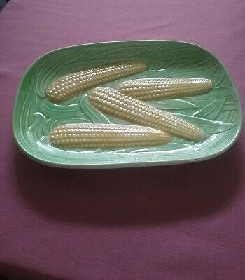 1950's Corn on the Cob Serving Dish - Japan - Hand Painted
