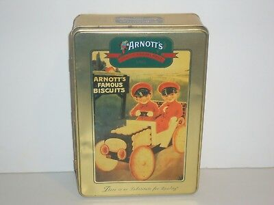 T1354 Empty Arnott's 2001 Biscuit Car Biscuit Tin 500G