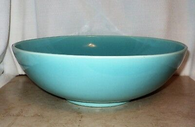 "Huge FRANCISCAN Gladding McBean Turquoise EL PATIO GMB 11.5"" Centerpiece Bowl"