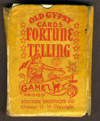 Old Gypsy Cards Fortune Telling Game, US, Polish text