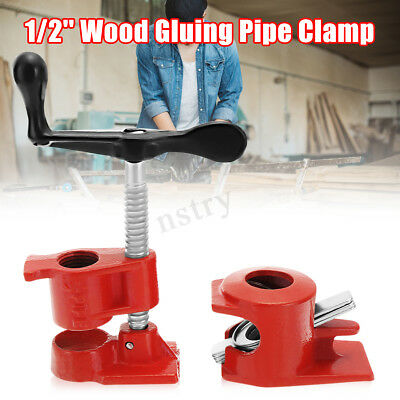 """1/2"""" Wood Gluing Pipe Clamp Clip Heavy Duty PRO Woodworking Carpenter Cast Iron"""