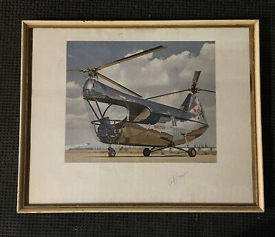 1952 Test Pilot Autograped Picture, Experimental McMulloch MC-4 Helicopter