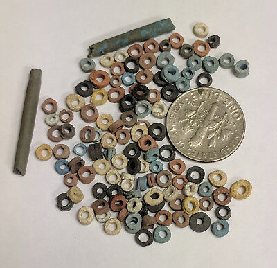More than a Hundred 2500 Year old Ancient Egyptian Faience Mummy Beads (K695)