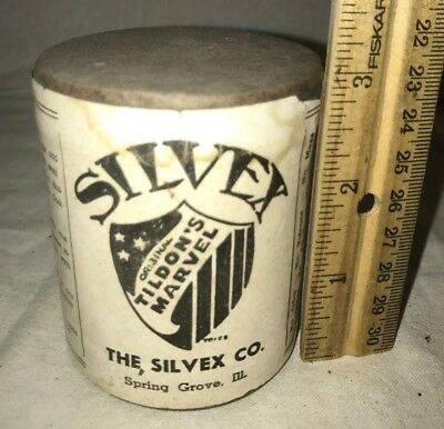 Antique Unopened Silvex Silver Polish Box Spring Grove Il Cleaner Metal Car Auto
