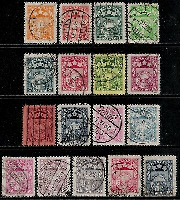 LATVIA 1921 - 1923 Old Stamps - Arms & Stars for Livonia, Kurland and Latgale