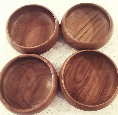 Vintage Teak Wood salad serving bowl set from Thailand
