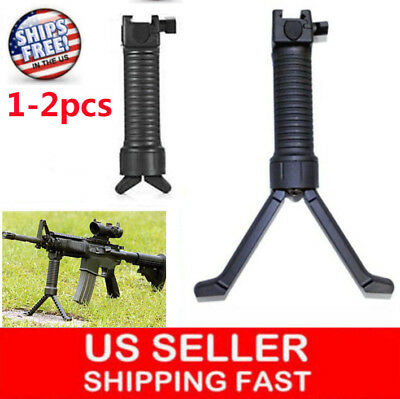Tactical Rifle Bipod Vertical Hand Fore Grip Foregrip Picatinny Weaver Rail 20mm