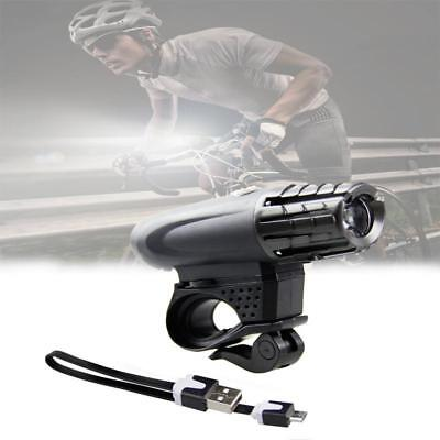 LED Rechargeable Bycicle Front Light Headlamp Headlight Bike Lamp Torch Black