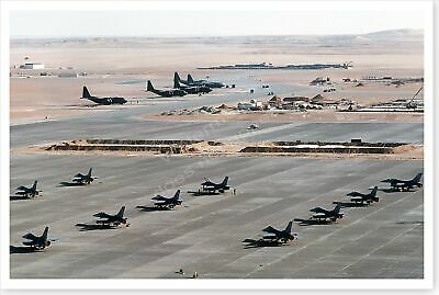 157th Tactical Fighter Wing F-16 Falcons On Airfield Desert Shield 8 x 12 Photo