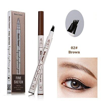 Tattoo Eyebrow Pen with 3 Colors Long-lasting Waterproof Brow Gel and Tint Dye C