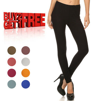 Women's Solid Color Leggings Buttery Soft Spandex Stretchy One Size Fits Most