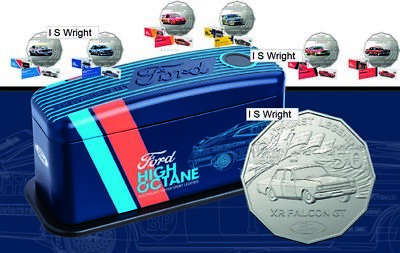 NOW SOLD OUT Australia 2018 50c Set of 7 FORD Performance Cars High Octane Tin