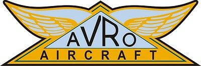 Avro Aircraft Logo,Decal/Stickers!