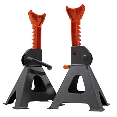 2 X 3TON Car Jack Stand 3T 3000kg Ratchet Adjustable Lift Hoist Heavy Duty Steel