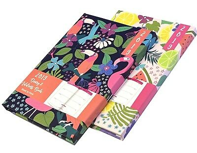 2019 Tropical Design A5 Week to View Diary & Address Book with Magnetic Closure