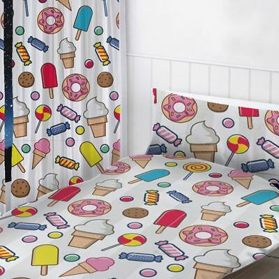 """Sweet Dreams Readymade Curtains Childrens Bedroom 72"""" Drop"""