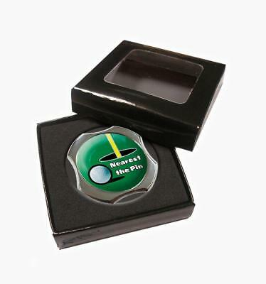 NEAREST THE PIN 40mm LINE UP BALL MARKER IN PRESENTATION BOX