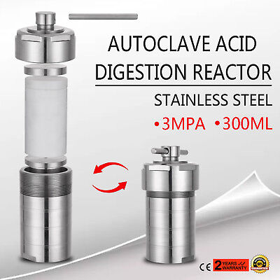 300mL Hydrothermal Synthesis Autoclave Reactor 19LBS 3MPA Anti-leakage UPDATED