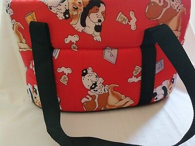 Lovely red animal print dog Carrying Bag