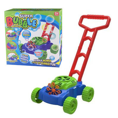 Bubble Blowing Lawn Mower Childrens Kids Auto Spillproof Outdoor Garden Toys New