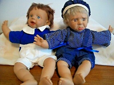 Berenguer ? Baby Dolls With Facial Expressions Boy And Girl Lot Of 2