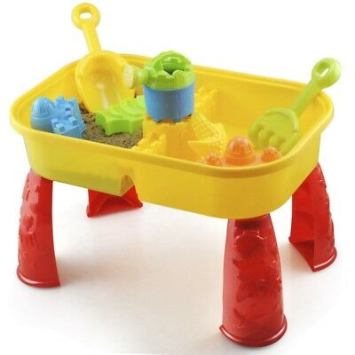 9Pc Sand Water Play Table Activity Sandpit Accessories Childrens Kids Toddler