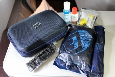 Malaysia Airlines business class Porsche Design BLUE amenity kit hard shell NEW