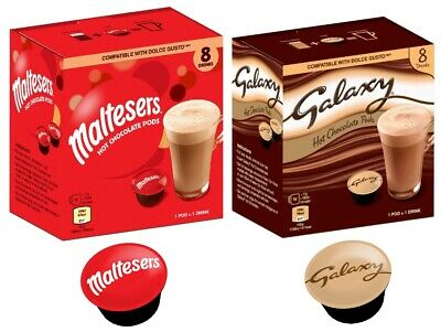 Galaxy or Maltesers Hot Chocolate Pods  Dolce Gusto Compatible Pods