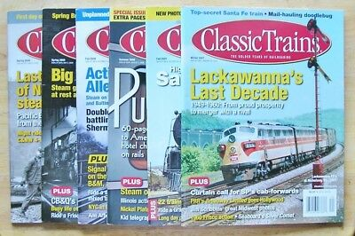 Classic Trains magazine--6 issues from 2007, 2008 and 2009