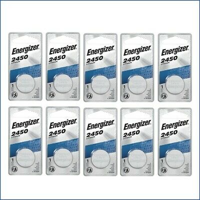 10 Pcs Energizer CR2450 ECR2450 CR 2450 3V Lithium Coin Cell Button Battery new